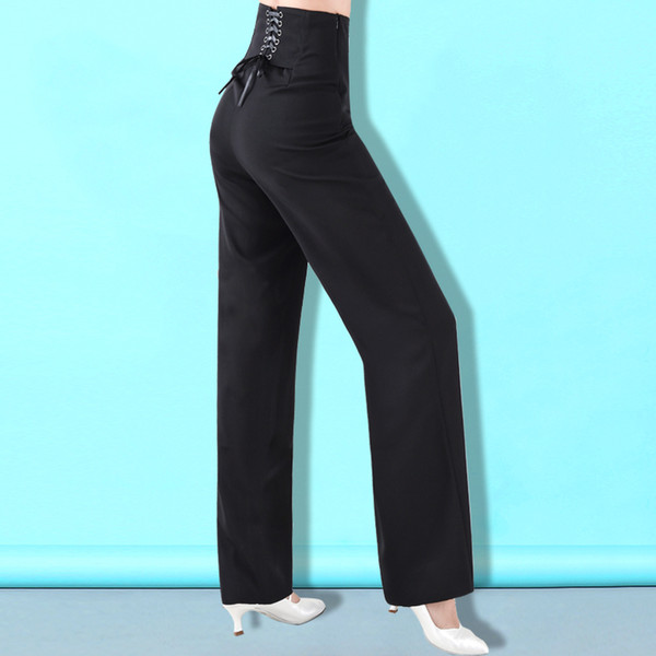 Calças de dança de salão Lady's Tango Waltz trajes de Dança Mulheres Concurso de Dança de Salão calças K6210
