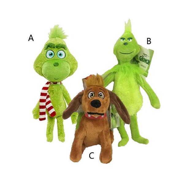 18 cm 28 cm 32 cm Come il Grinch Stole di Natale peluche bambole peluche 2018 Nuovo Fumetto Verde Grinch Action Figure Giocattoli Per Bambini Regalo