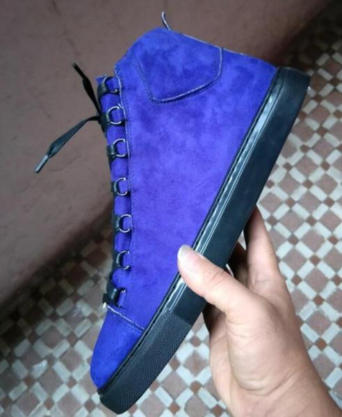 Erkekler Klasik Mor kahverengi Kadınlar Arena Marka Flats Sneakers Erkek High Top ayakkabı erkekler Moda Casual Lace Up Ayakkabı Büyük Boy 36-46