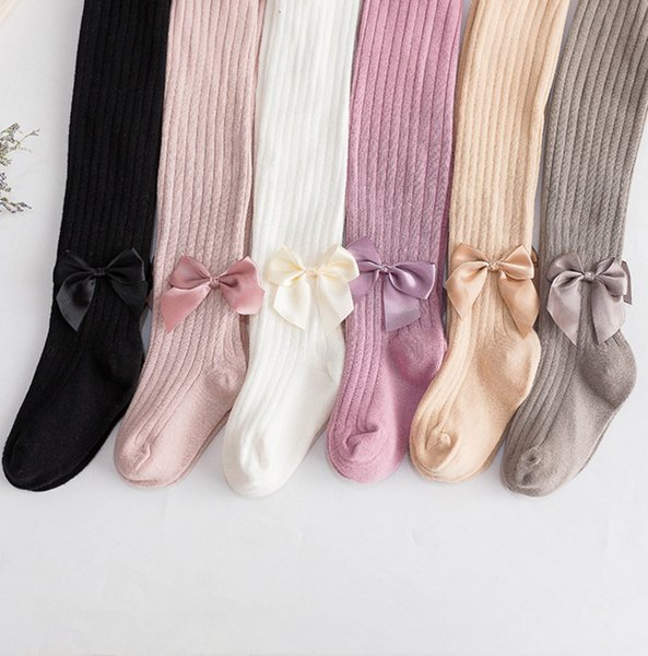 Spring autumn girl leggings for children bow-knot pencil pants baby girl tights soft cotton trousers good quality