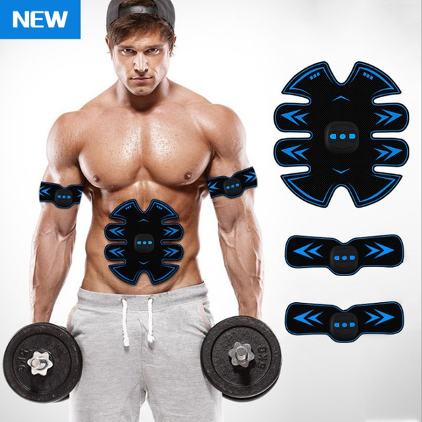 Adhesivos para músculos abdominales inalámbrico USB inteligente perezoso dispositivo abdominal abdomen fitness salud masaje muscular pegatinas pegatinas para brazo de fitness