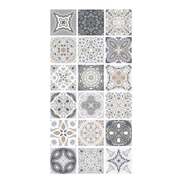 Portugal Estilo tijolo Piso etiqueta auto-adesiva impermeável antiderrapantes resistentes ao desgaste de Banho Sala de Estar WC Piso Decor Sticker