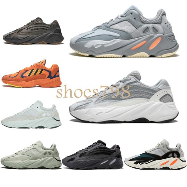2019 новая дизайнерская обувь Wave Runner 700 V2 3M Kanye West обувь Mauve Salt Vanta мужчины женщины кро