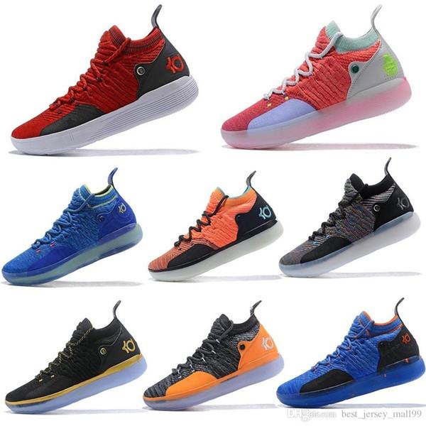 2019 KD 11 EP Weiß Orange Schaum Pink Paranoid Oreo ICE Basketball Schuhe Original Kevin Durant XI KD11 Herren Sneakers Größe 7-12