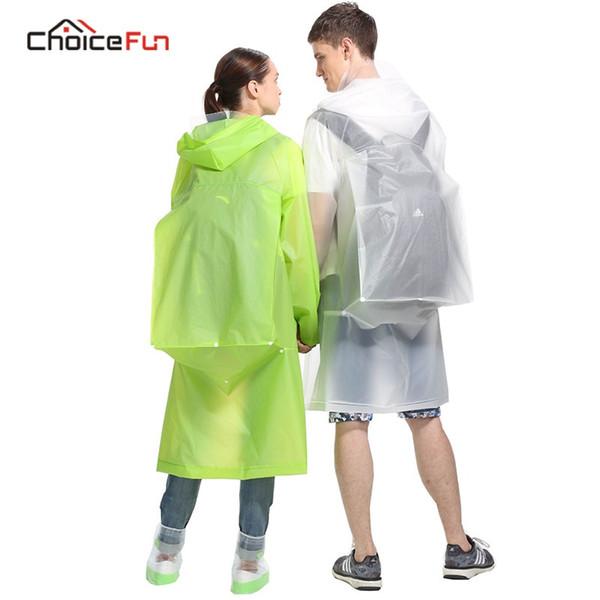 Moda Impermeable con Capucha Impermeable Transparente Plegable largo mujer desgaste al aire libre