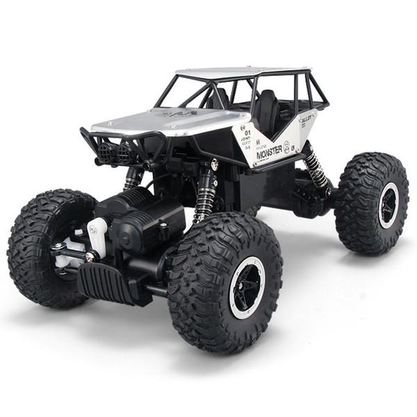 Crawler Racer Vehículos de juguete Camiones Metal Shell Radio Control RC Coche Off-Road 4WD Rock 2.4GHz