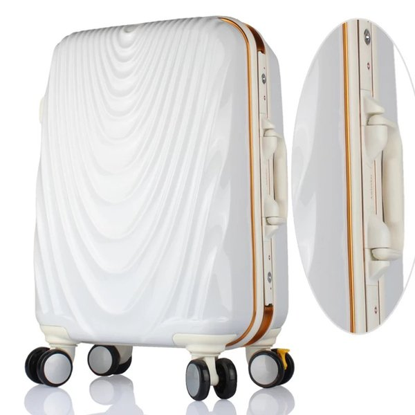 """Retro personality 20""""24""""inch PC Men Rolling Luggage Trolley Suitcase Women Fashion Travel bag Spinner brand Carry On with wheels"""