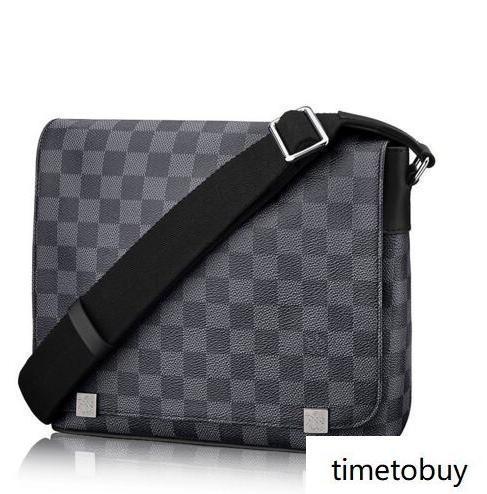 2019 Distrito Mm N41029 hombres bolsos del mensajero del hombro la correa del bolso de totalizadores de la cartera carteras del equipaje de la lona