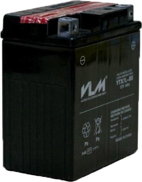 best selling VLM battery Yamaha YBR 125-BS Battery YTX7L Ship from Turkey HB-003710863