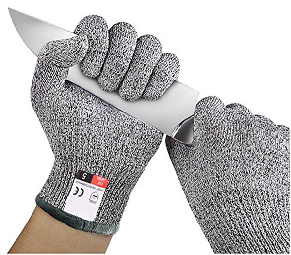 Gants anti-coupure Gants de sécurité résistants aux coupures en acier inoxydable fil d'acier inoxydable
