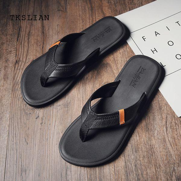 Summer Slippers men home platform flip flops beach men brown black man slipper male non-slip rubber drop shipping