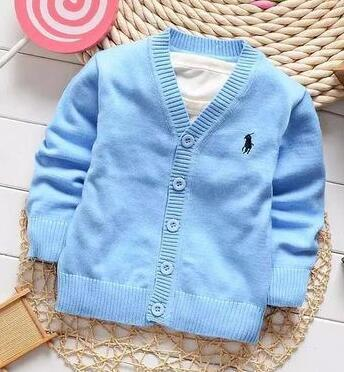 01 New Kids Sweater Autumn Children Polos Cardigan Coat Baby Boys Girls single-breasted jacket Sweaters outer wear 871-d