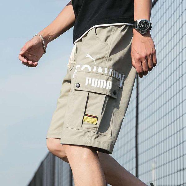 Роскошные летние шорты марки мужские пляжные брюки с шортами камуфляж модные брюки буквы длина свободные брюки 99836