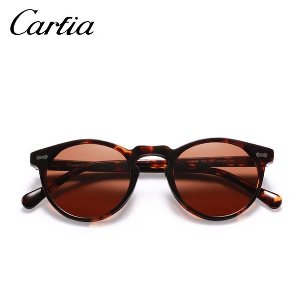 Gafas de sol polarizadas-al por mayor las gafas de sol del diseñador 5288 carfia ovalada fprotection gafas de resina acatate 3 colores con la caja