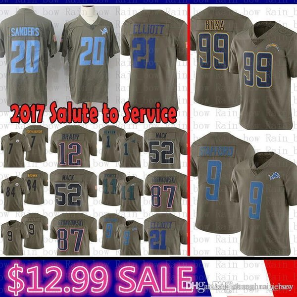 Best Los Angeles Chargers Jersey 99 Joey Bosa 2017 Salute To Service Detroit Lions 9 Matthew