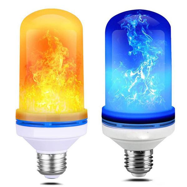 7 W E27 E26 B22 Alev Ampul 85-265 V LED Alev Etkisi Yangın Işık Ampüller Titreşen Öykünme Atmosfer Atmosfer Dekoratif Lamba