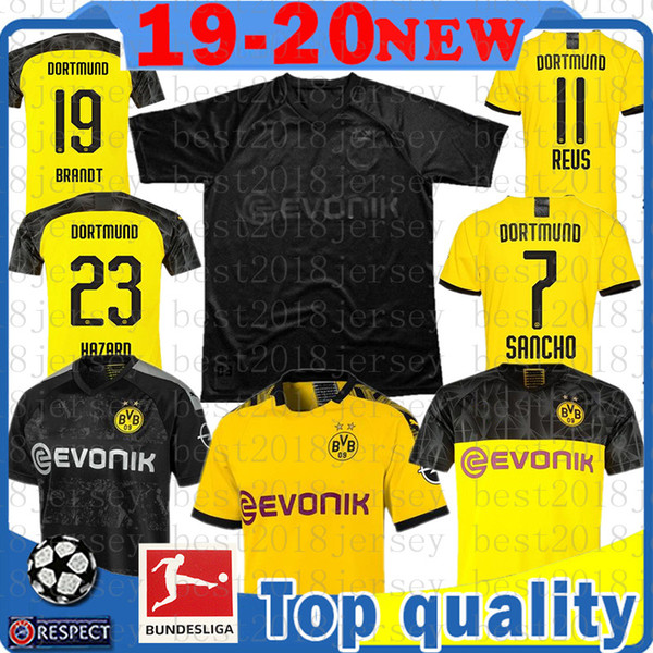 110th black reu m gotze ancho football hirt hummel diallo brandt paco alcacer maillot de foot bvb boru ia dortmund occer jer ey, Black;yellow