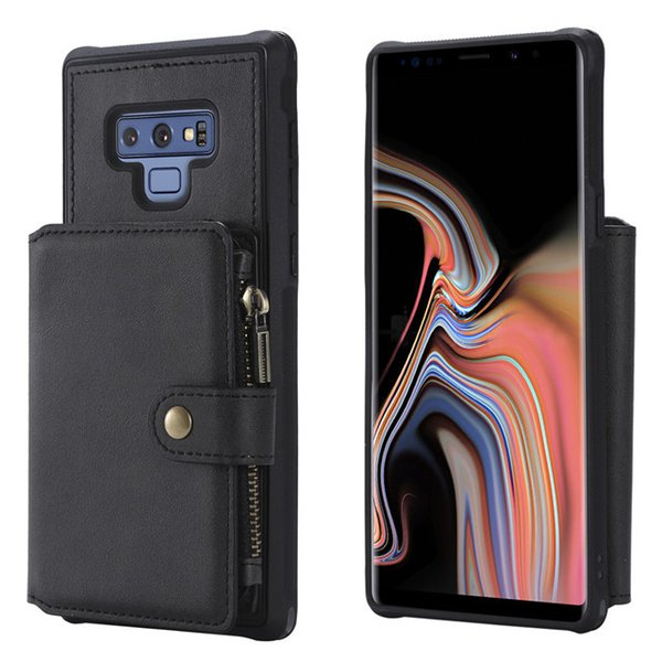Luxury unique Pattern design pu Leather Zipper Wallet Phone Case for samsung note 9 Back Cover