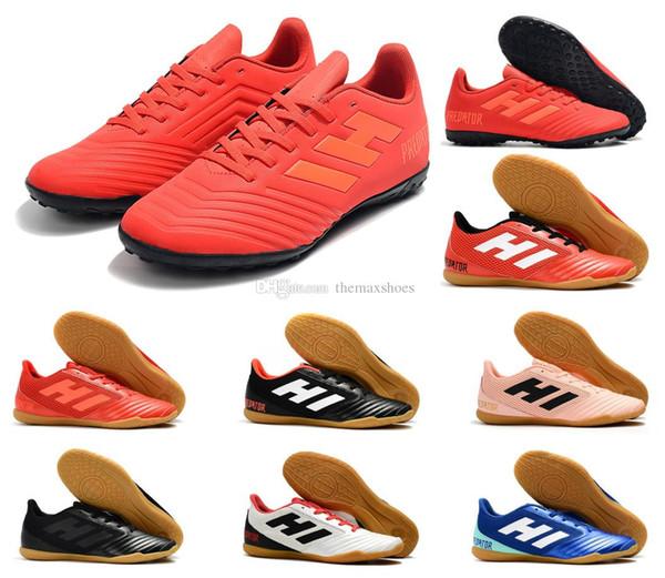 2019 New Predator 19.4 TF IN Cheap Turf Cleats 19 Mens Indoor Outdoor Soccer Shoes Football Boots Size 6.5-11