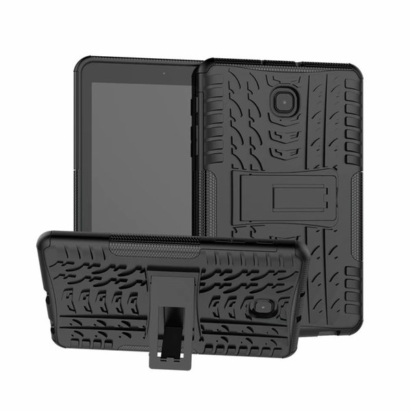 Dazzle Heavy Duty Impact TPU+PC Hybrid Armor Kickstand Hard Cover Case For Samsung Galaxy Tab A T387 8.0 inch Tablet Cases