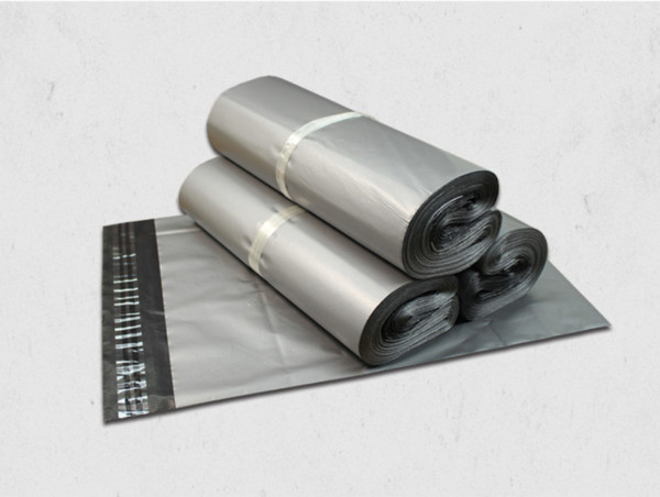 100pcs Gray Poly Express Shipping Bags Self-seal Self Adhesive Courier Mailing Plastic Bag Envelope Courier Postal Packing Mail Bags