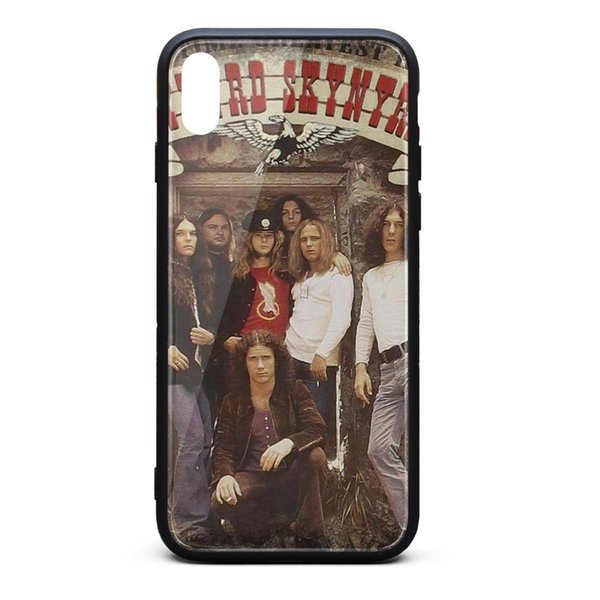 IPhone X Case,iPhone XS Case Lynyrd Skynyrd All Time Greatest Hits 9H Tempered Glass Back Cover TPU Bumper Shock Absorption Phone Case