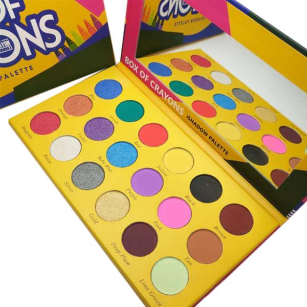 Make-up Lidschatten-Palette BOX OF CRAYONS Kosmetik Lidschatten-Palette 18 Farben Lidschatten-Palette Shimmer Matte EYE Beauty DHL Shipping