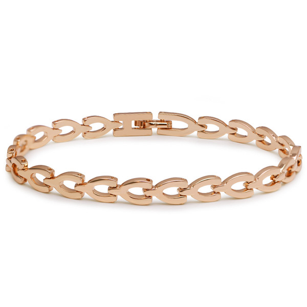 (349B) (19,3 cm * 6 mm) Neue Ankunftsuhr Armband Für Männer Schmuck Vergoldet 18 Karat Blei und Nickel Frei
