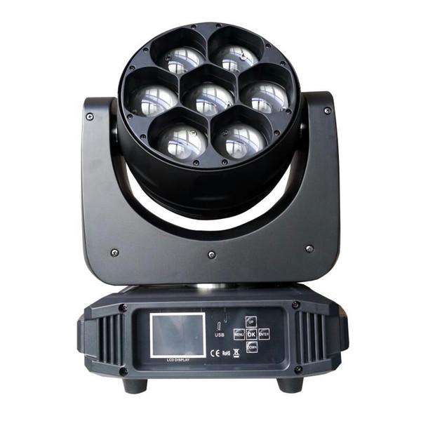 Nuevo spot 7x40W RGBW 4 en 1 Mini cabeza móvil LED Luz de limpieza del haz Disco Ktv Stage Lght Cabeza móvil Luz teñida PAR