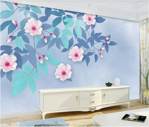 3d wallpaper custom p murals background wall small fresh hand painted flowers background wall home decor wall art pictures