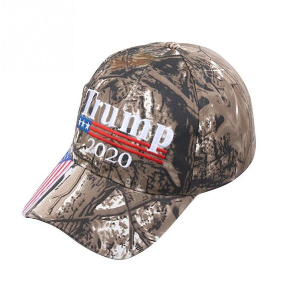 Fai di nuovo l'America Ricamo USA Flag 2020 Donald Trump Hat Re-Election Cotton Campping cap Outdoor Camouflage
