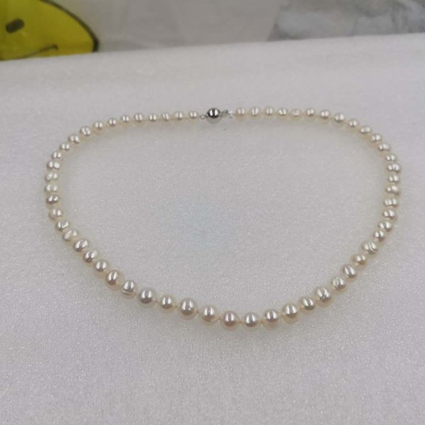 "wholesale 10 strands white freshwater pearl necklace 16"" 18"" 24"" magnet clasp"
