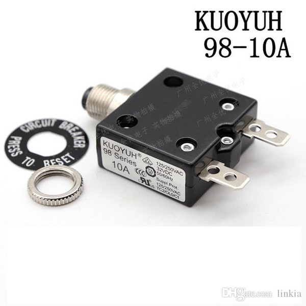 best selling Taiwan KUOYUH 98 Series-10A Overcurrent Protector Overload Switch