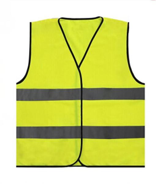 Francia riflettente Gilet Outdoor avvertimento riflettente Gilet Visibilità lavoro Traffic Safety Vest Giallo Abbigliamento per feste GGA1918