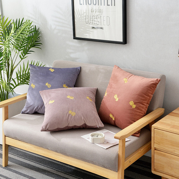 Modern Europe Multi colors Soft Striped Plush Velvet Pillow Case Solid Soft Corduroy Home Sofa Car Cushion Cover Decoration 45*45cm by DHL
