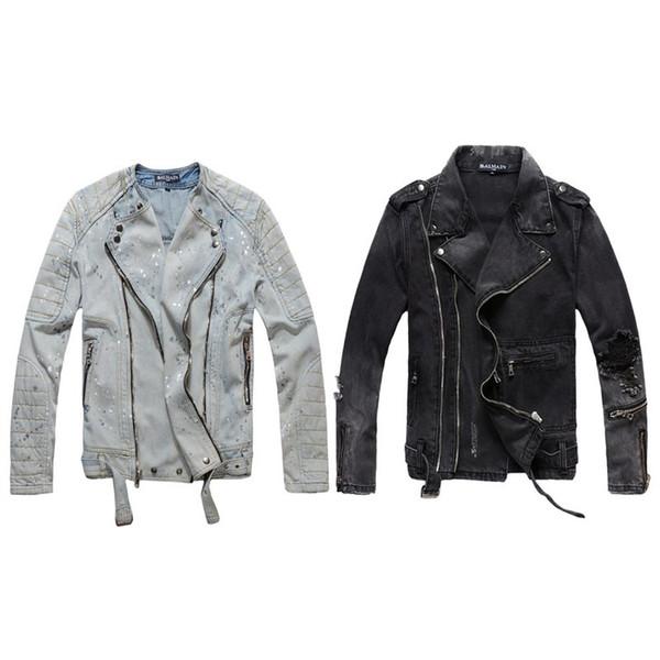 Balmain Designer Veste Manteau De Mode Hommes Femmes Denim Manteau Casual Hip Hop Designer Veste Hommes Vêtements Taille M-4XL