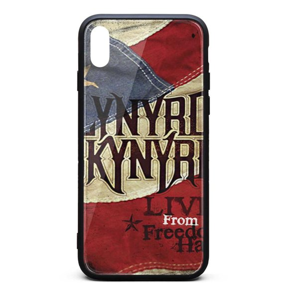 IPhone X Case,iPhone XS Case Lynyrd Skynyrd live from freedom hall 9H Tempered Glass Cover TPU Bumper Drop Protection Phone Case