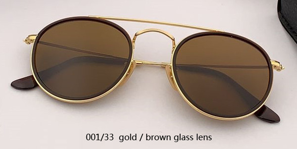 001/33 gold/brown glass lens