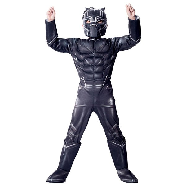 New Black Panther Kinder Leistung Cosplay Held The Avengers Masquerade Holiday Kleidung Kostüm Weihnachtsgeschenk für Kinder