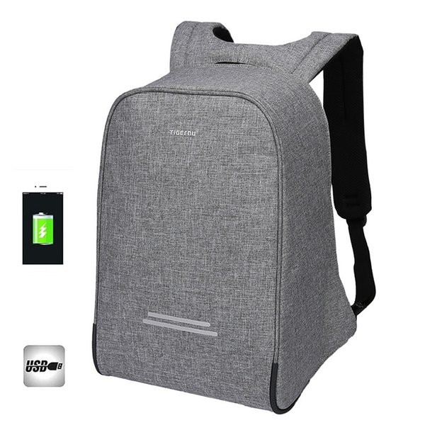 Tigernu Anti-theft Men 15.6 Inch USB Recharge Backpacks for Laptop Backpack Male School Backpack for Kids Casual Laptop Bag