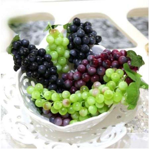 Lebensechte künstliche Trauben Kunststoff künstliche Blumen gefälschte dekorative Frucht Lebensmittel Simulation Obst Gemüse Home Shop Decor