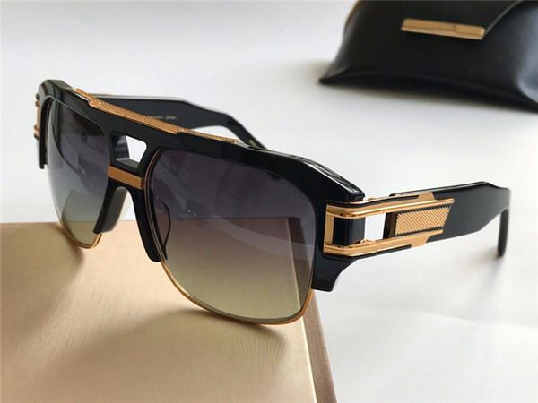 2019 Yeni lüks güneş erkekler tasarım metal vintage güneş gözlüğü 2060 gm4 moda stil kare çerçevesiz UV 400 lens ile orijinal ...