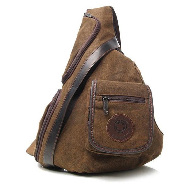 High Quality Men Canvas Sling Chest Day Back Pack Travel Multi-capacity Shoulder Messenger Bags Cross Body Single Rucksack