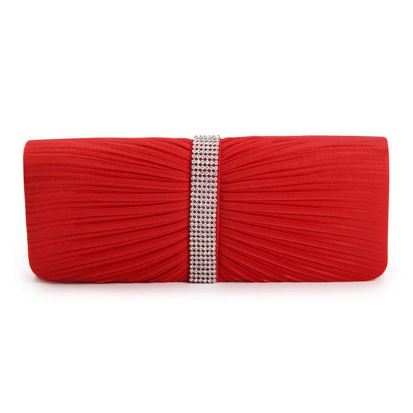 2019 good quality High Quality Fashion Satin Beaded Crystal Hand Evening Bag Women Clutch Bag Charm Wedding Handbag Party Evening Bags