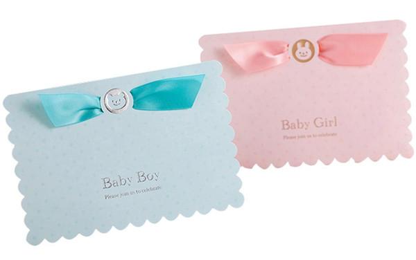 [Bienvenue bébé] 1Pcs Rose Tiffany Bleu 3D Pop Up Carte d'invitation de douche de bébé, carte d'anniversaire de voiture de bande dessinée ours pour fille garçon