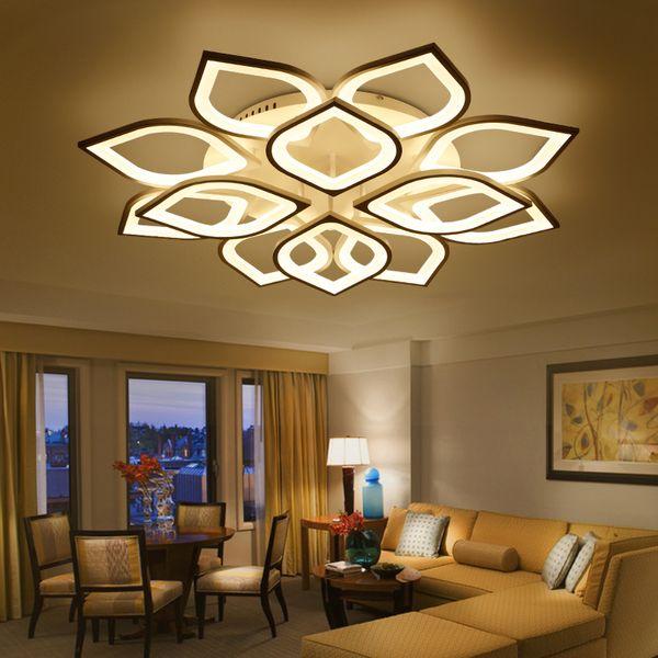 Novo acrílico moderno luzes do candelabro do teto led para sala de estar quarto casa de natal lampara de techo led moderna luminária
