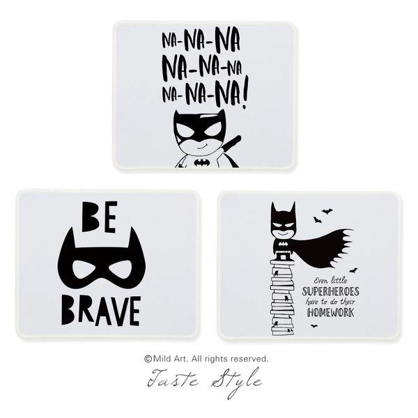2019 Nordic Black White Superhero Batman Quotes Game Kids Large Custom Prints Creative Gift Boy Pc Gaming Computer Mouse Pads Mat Set From