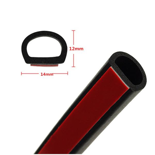 4-метровая автомобильная резина SEAL клей D- образная уплотнительная полоса двери автомобиля звукоизоляция уплотнительная уплотнительная полоса для автомобиля BOAT TRUCK