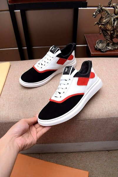 2019r summer new high quality men's comfortable breathable casual shoes, fashion wild sports shoes, send the original box packaging 38-45