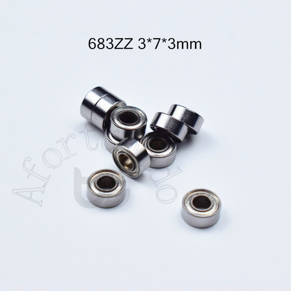 top popular 683Z ABEC-5 bearings 10pcs Metal Sealed Miniature Mini Bearing Free shipping 683 683Z 683ZZ 3*7*3mm chrome steel deep groove bearing 2021
